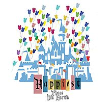 Happiest Place on Earth - Vintage Castle Photographic Print