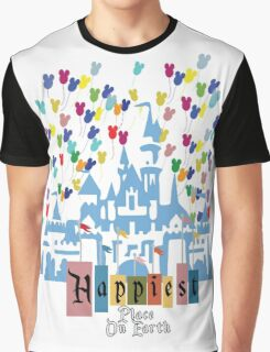 Happiest Place on Earth - Vintage Castle Graphic T-Shirt