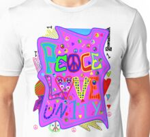 Peace, Love and Unity Unisex T-Shirt