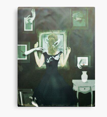 Reaching Through Canvas Print