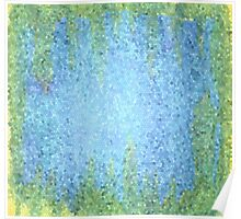 Blue and Green Abstract Mosiac Poster