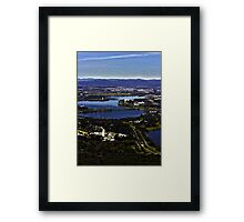 Canberra from Black Mountain Tower Framed Print