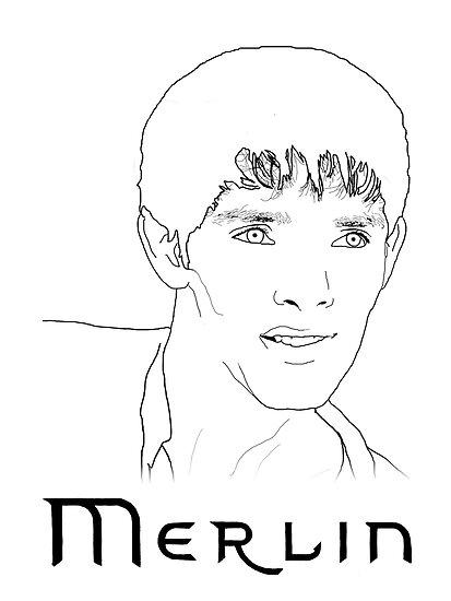 Merlin Stencil  by carrieclarke