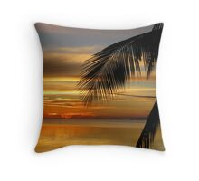 Tropical Sunset - Philippines Throw Pillow