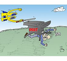 Euroman tries to cut the Greek debt Photographic Print
