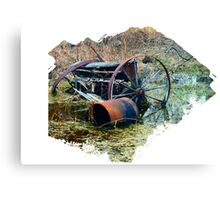 Rusty old farm equipment Canvas Print