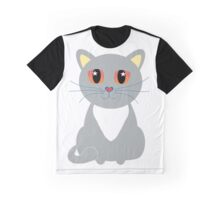 Only One Gray Cat Graphic T-Shirt