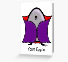 Count Eggula Greeting Card