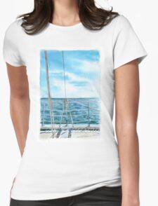 Ocean View Womens Fitted T-Shirt