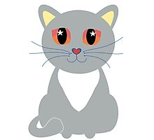 Only One Gray Cat Photographic Print