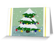 Christmas tree colorful Greeting Card