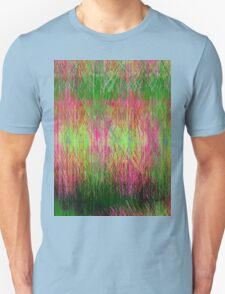 Lime and pink fury abstract. Unisex T-Shirt