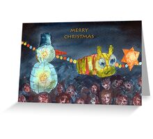 Christmas lights in Stony Stratford. Greeting Card