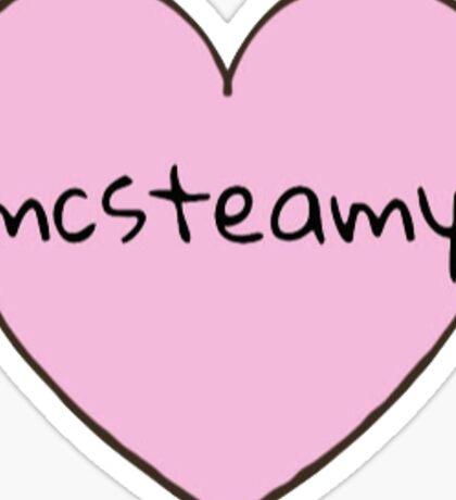 McSteamy Heart Sticker