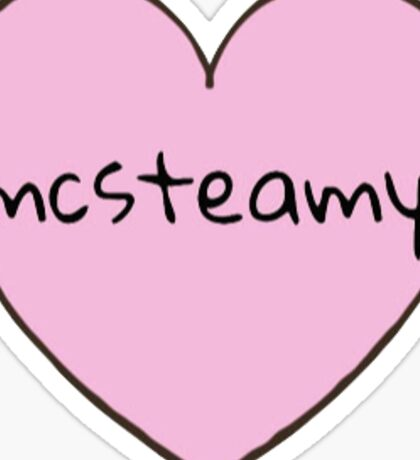 McSteamy Heart Sticker