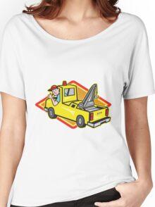 Tow Wrecker Truck Driver Thumbs Up  Women's Relaxed Fit T-Shirt