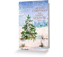 Snowy Christmas Tree. Greeting Card