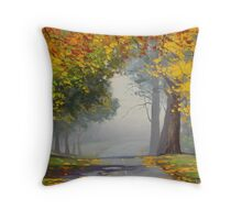 Road Through Mt Wilson Throw Pillow