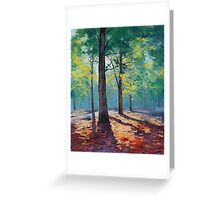 Forest Leaves Greeting Card