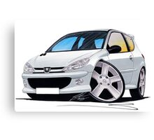 Peugeot 206 GTi Silver Canvas Print