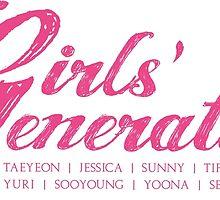 Girls' Generation - Cursive by Wishful Thinking Shop