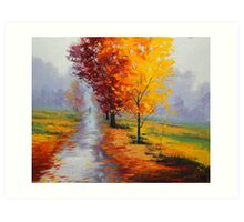 Wet Fall Day Art Print