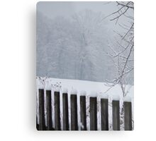 A Wild Snow Scene in a Forest Metal Print