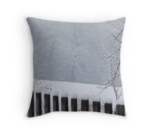 A Wild Snow Scene in a Forest Throw Pillow