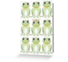 1 Heavy Crown & 9 Frogs Greeting Card