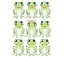 1 Heavy Crown & 9 Frogs Photographic Print