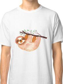 Kawaii Sloth Watercolor Classic T-Shirt