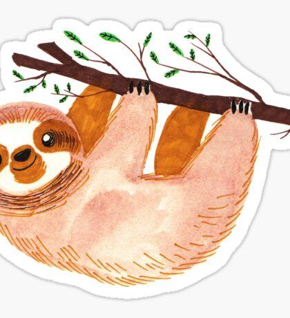 Kawaii Sloth Watercolor Sticker