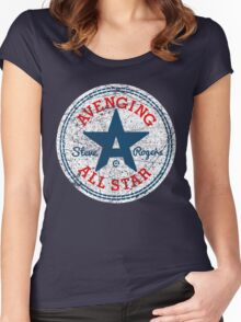 Avenging All Star (Tri-Color Distressed) Women's Fitted Scoop T-Shirt