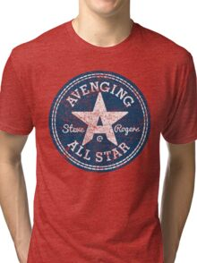 Avenging All Star (Two-Color Distressed) Tri-blend T-Shirt