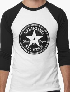 Avenging All Star (Black) Men's Baseball ¾ T-Shirt