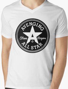 Avenging All Star (Black) Mens V-Neck T-Shirt