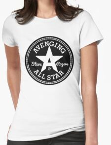 Avenging All Star (Black) Womens Fitted T-Shirt