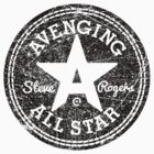 Avenging All Star (Black Distressed) by Eozen