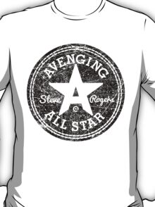 Avenging All Star (Black Distressed) T-Shirt