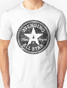 Avenging All Star (Black Distressed) Unisex T-Shirt