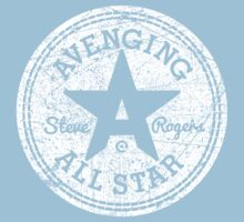 Avenging All Star (White Distressed) Kids Tee