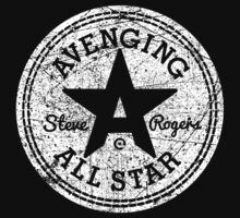 Avenging All Star (White Distressed) Kids Clothes
