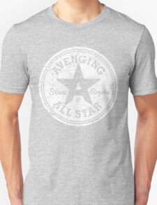 Avenging All Star (White Distressed) Unisex T-Shirt