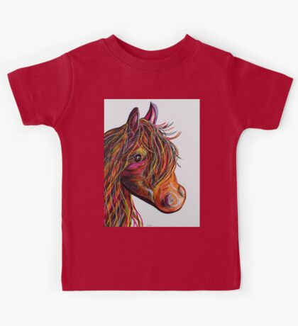 A Stick Horse Named Amber Kids Tee
