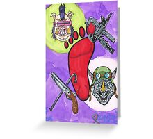 Bebop and Rocksteady Greeting Card