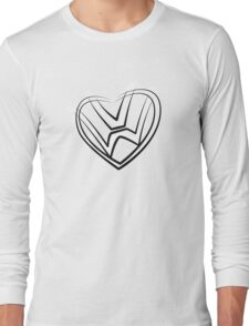 VW heart logo in a painted style Long Sleeve T-Shirt