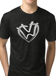 VW heart logo in a painted style Tri-blend T-Shirt