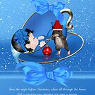 Baby Boys First Christmas Card - Night Before Christmas by Moonlake