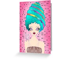 Ester the Easter Egg Lady Greeting Card