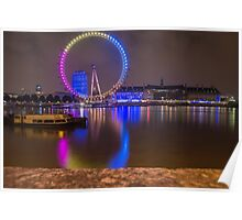 London eye - Multicoloured eye Poster